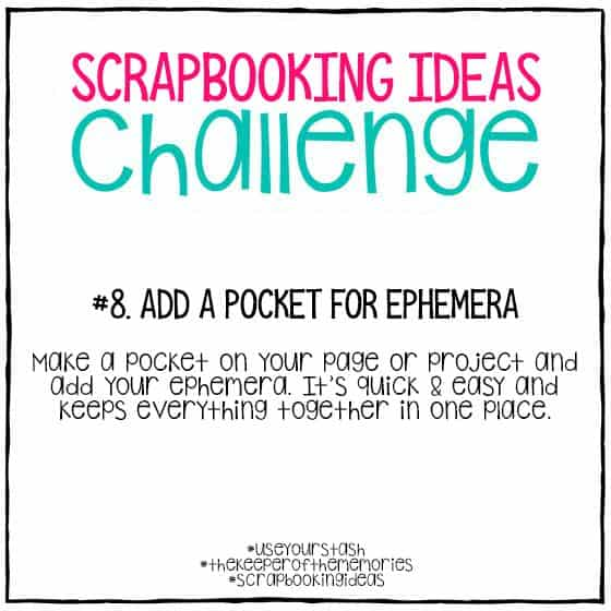 Scrapbooking Ideas Challenge 8
