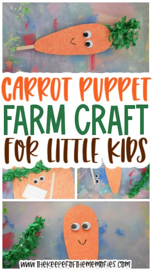 Quick & Easy Carrot Puppet Craft