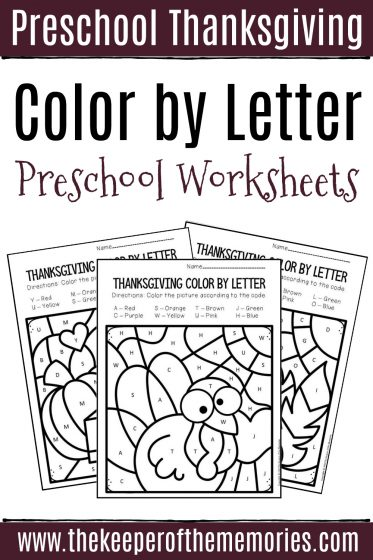 Color by Letter Preschool Worksheets