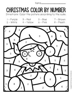 Color By Number Christmas Preschool Worksheets The Keeper Of The Memories