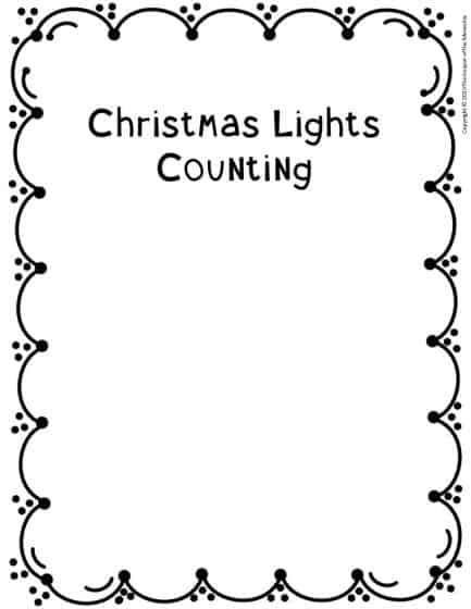 Counting Christmas Preschool Worksheets