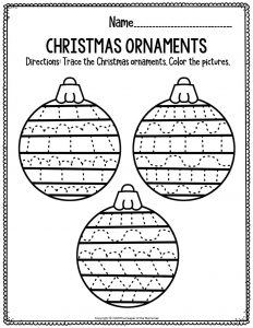Fine Motor Christmas Preschool Worksheets Christmas Ornaments