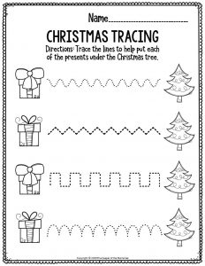 Fine Motor Christmas Preschool Worksheets Christmas Tracing
