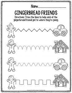 Fine Motor Christmas Preschool Worksheets Gingerbread Friends