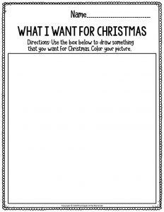 Fine Motor Christmas Preschool Worksheets What I Want For Christmas