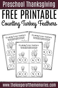 Free Printable Counting Turkey Feathers