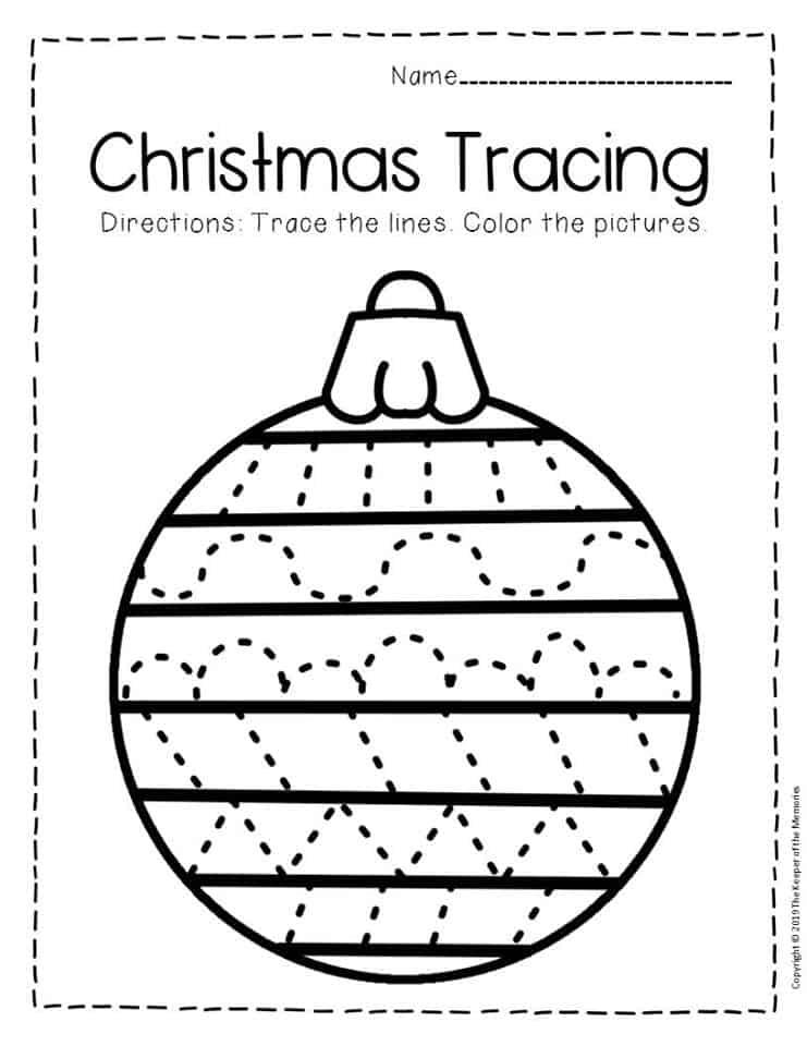 Free Printable Tracing Christmas Preschool Worksheets 1 ...
