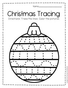 Free Printable Tracing Christmas Preschool Worksheets 2