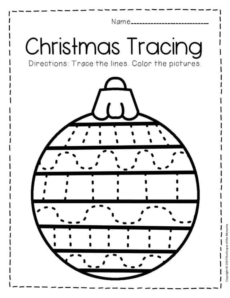 Christmas Number Worksheets Kindergarten