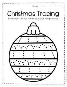 Free Printable Tracing Christmas Preschool Worksheets 3