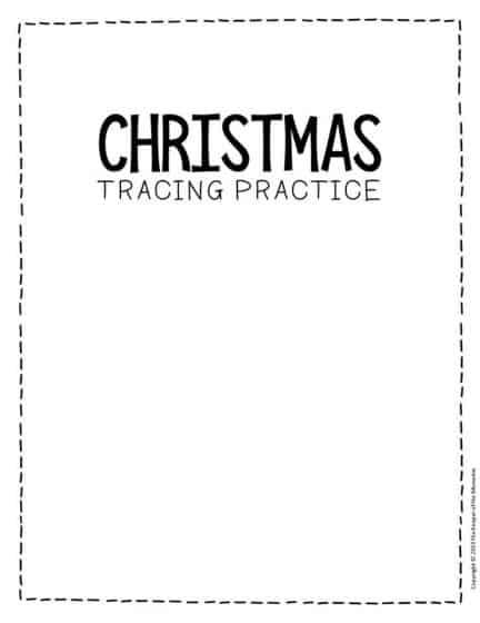 Free Printable Tracing Christmas Preschool Worksheets