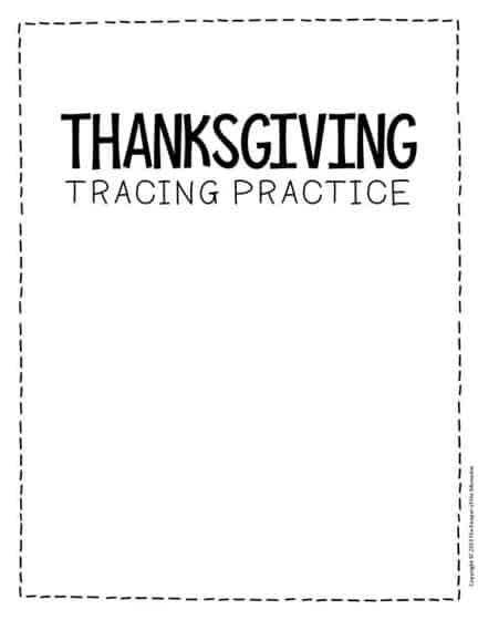 Free Printable Tracing Thanksgiving Preschool Worksheets