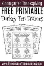 Free Printable Counting Thanksgiving Kindergarten Worksheets