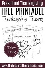 Free Printable Tracing Thanksgiving Preschool Worksheets