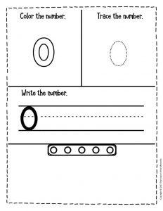 Numbers Winter Preschool Worksheets 0