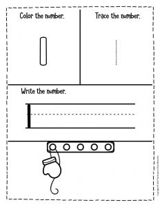Numbers Winter Preschool Worksheets 1