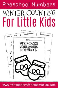 Numbers Winter Preschool Worksheets