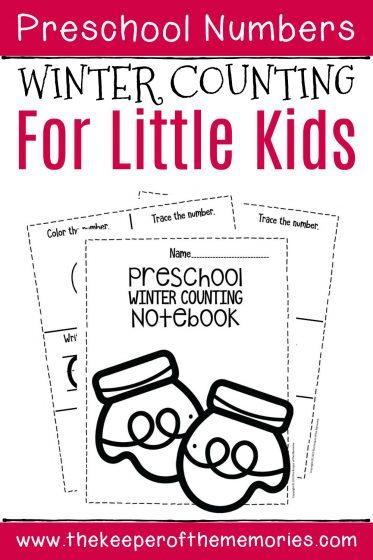 Numbers Winter Preschool Worksheets