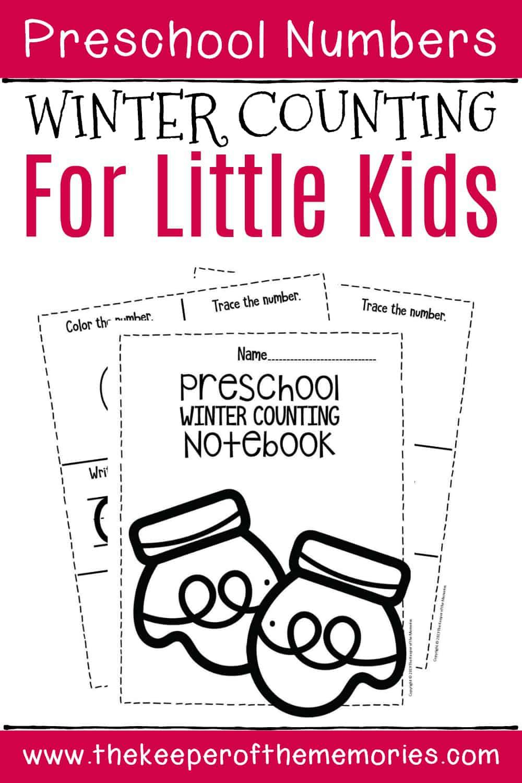 Free Printable Numbers Winter Preschool Worksheets