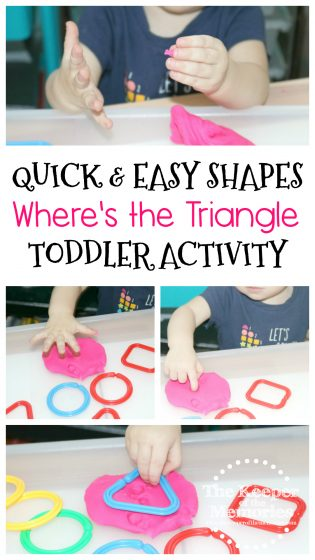 Quick & Easy Where's the Triangle Toddler Activity