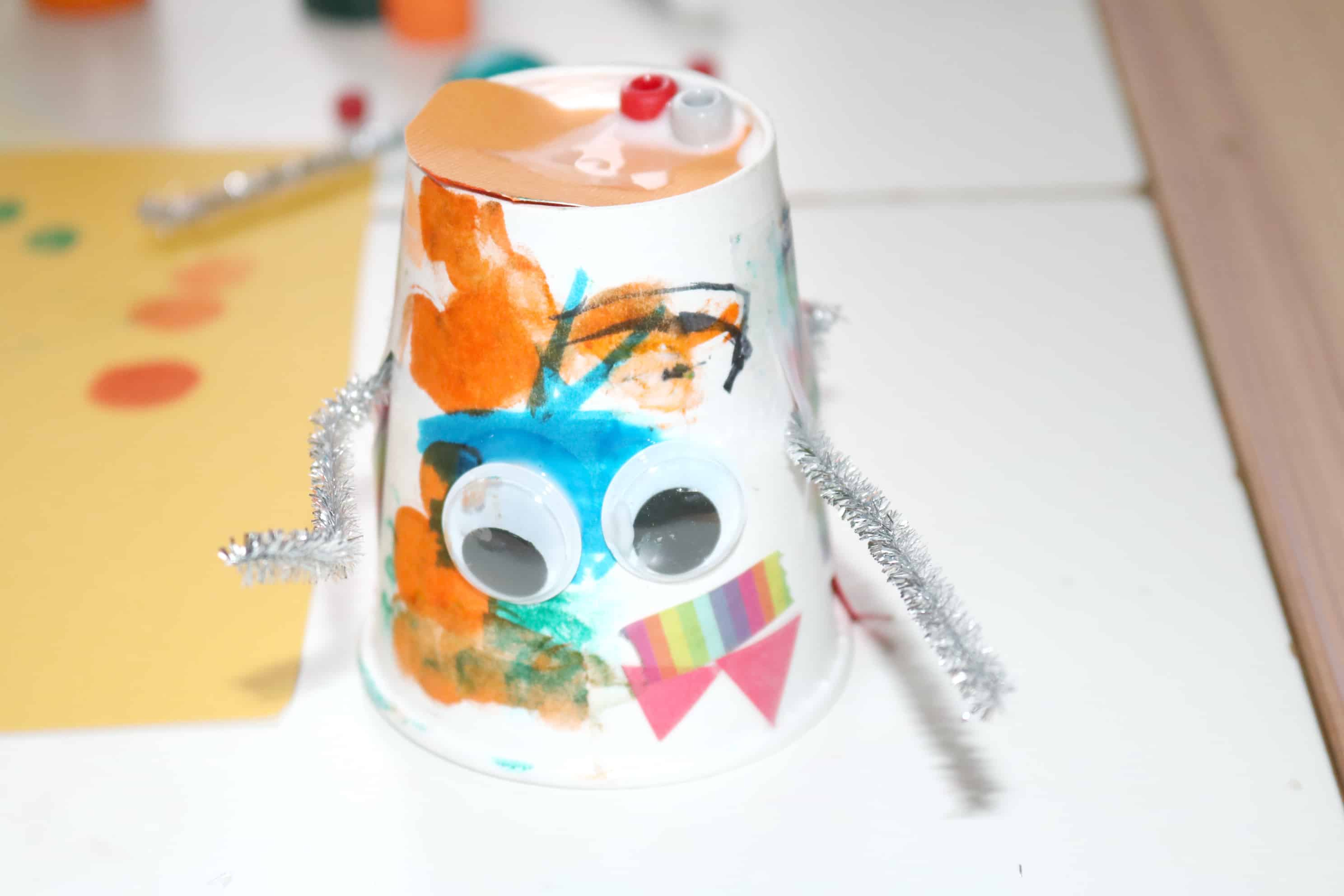 Robot Tinkering Process Art for Little Kids
