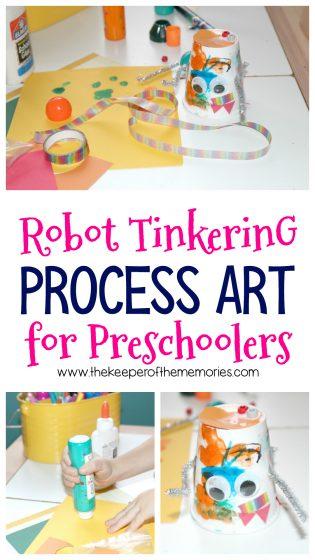 Robot Tinkering Process Art for Preschoolers