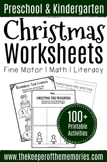 100+ Christmas Worksheets for Preschoolers & Kindergartners