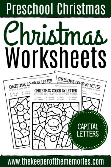 Christmas Preschool Worksheets Capital Letters