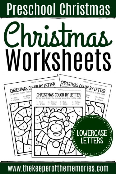 Christmas Preschool Worksheets Lowercase Letters