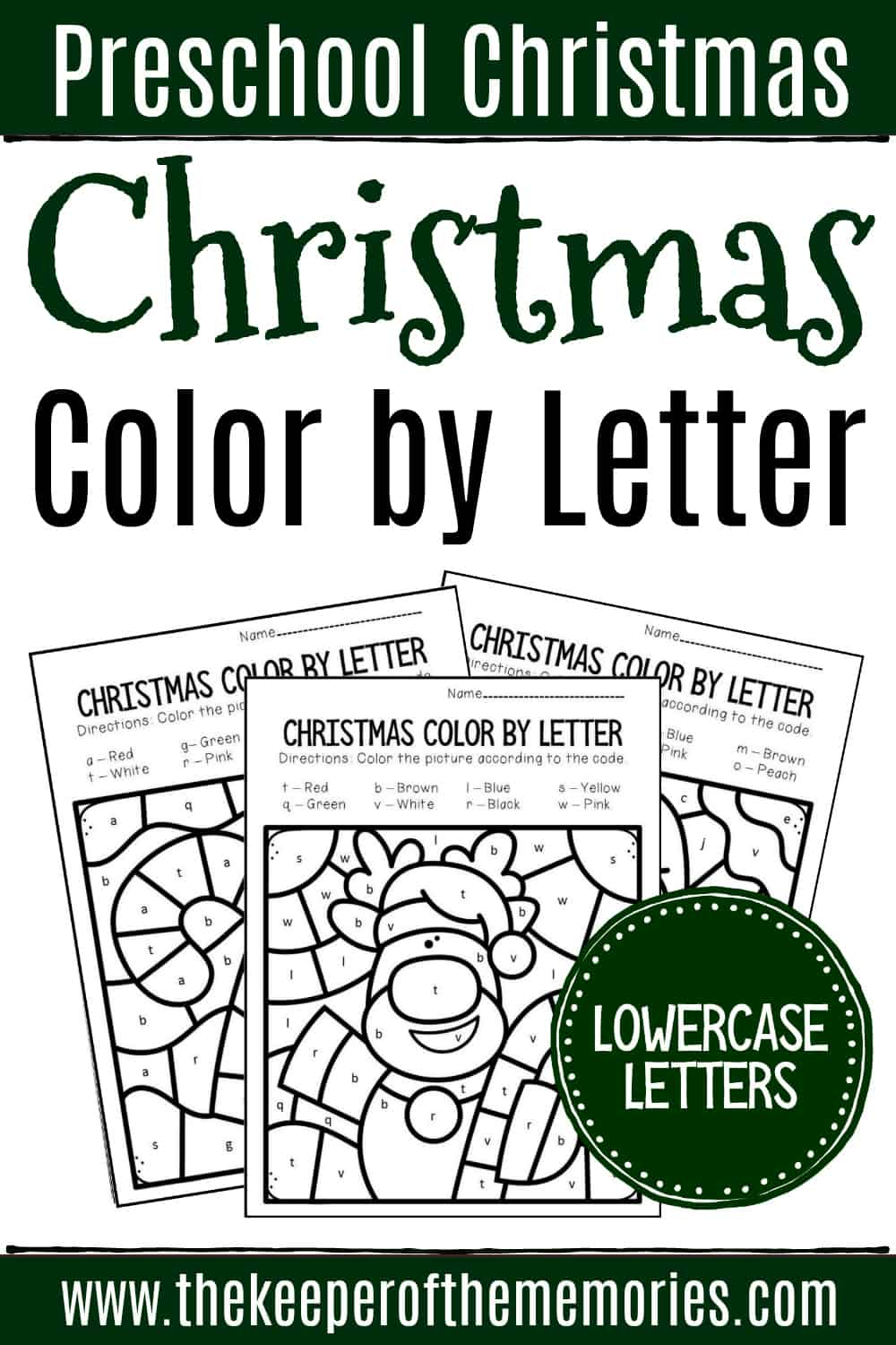 - Color By Lowercase Letter Christmas Preschool Worksheets