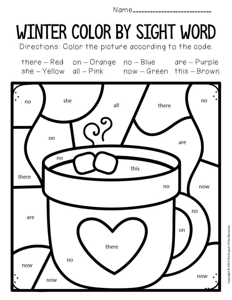 Winter Themed Worksheets For Kindergarten