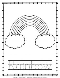 Cute Rainbow Coloring Pages
