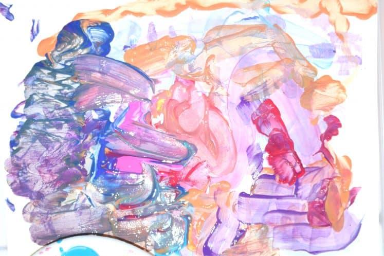 dancing paintbrush process art