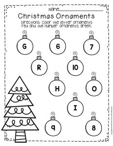 Free Printable Christmas Ornaments Christmas Preschool Worksheets 2