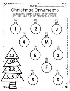 Free Printable Christmas Ornaments Christmas Preschool Worksheets 3