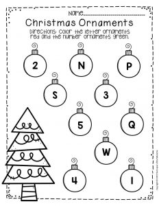 Free Printable Christmas Ornaments Christmas Preschool Worksheets 5