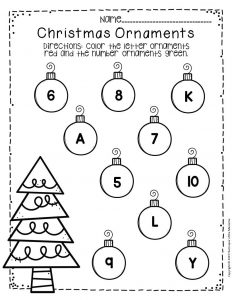 Free Printable Christmas Ornaments Christmas Preschool Worksheets 6