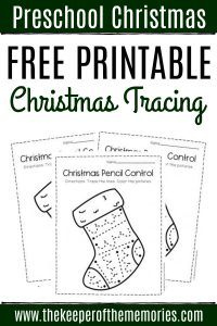 Free Printable Pencil Control Christmas Preschool Worksheets
