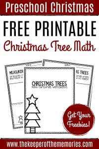 Free Printable Measuring Christmas Trees Math Christmas Worksheets