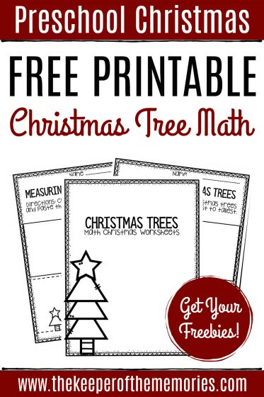 Free Printable Christmas Tree Math with text: Preschool Christmas Free Printable Christmas Tree Math Get Your Freebies!