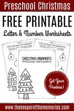 Free Printable Christmas Ornaments Christmas Preschool Worksheets