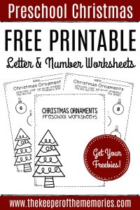 Free Printable Letter & Number Christmas Preschool Worksheets