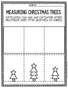 Free Printable Measuring Christmas Trees Math Christmas Worksheets 1