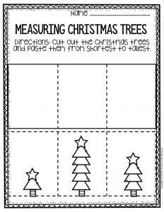 Free Printable Measuring Christmas Trees Math Christmas Worksheets 2