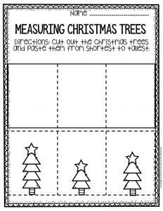 Free Printable Measuring Christmas Trees Math Christmas Worksheets 3