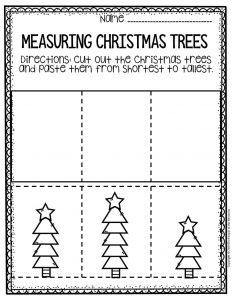 Free Printable Measuring Christmas Trees Math Christmas Worksheets 4