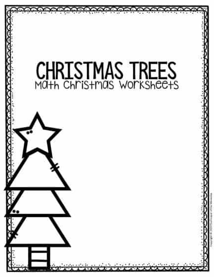 Free Printable Measuring Christmas Trees Math Christmas Worksheets