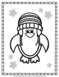 Free Printable Penguin Coloring Pages Christmas Penguin