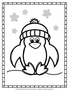 Free Printable Penguin Coloring Pages Cute Penguin