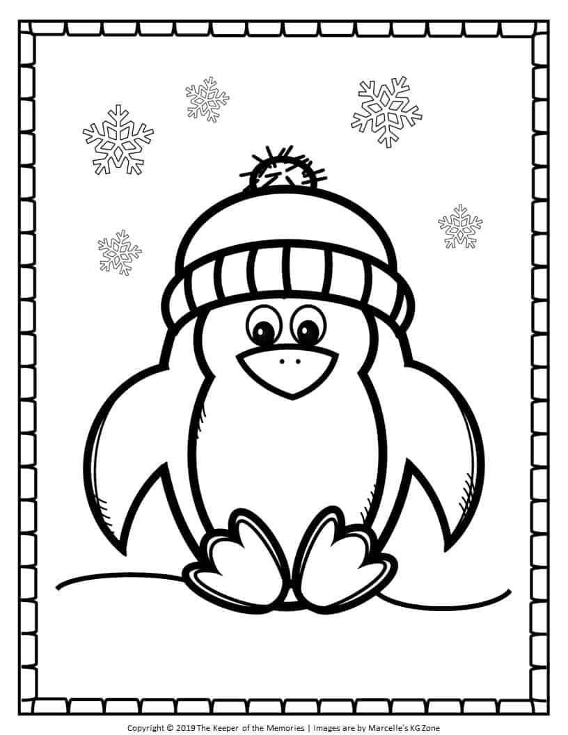 Free Printable Penguin Coloring Pages Cute Penguin - The ...